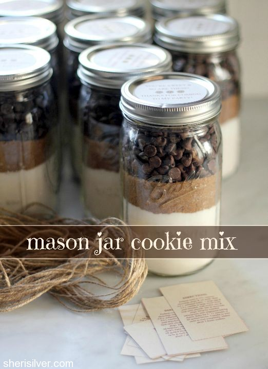 Chocolate Chip Cookie Mix Mason Jar