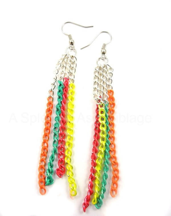 neon-chain-earrings