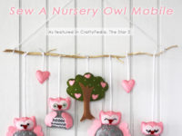 owl mobile 200x150 Adorable DIY Baby Mobiles Made From Upcycled Materials
