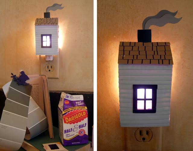 Paper house night lights