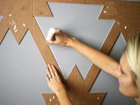 patterened stencil paint 200x150 Creative Ways to Liven Up Walls with Paint