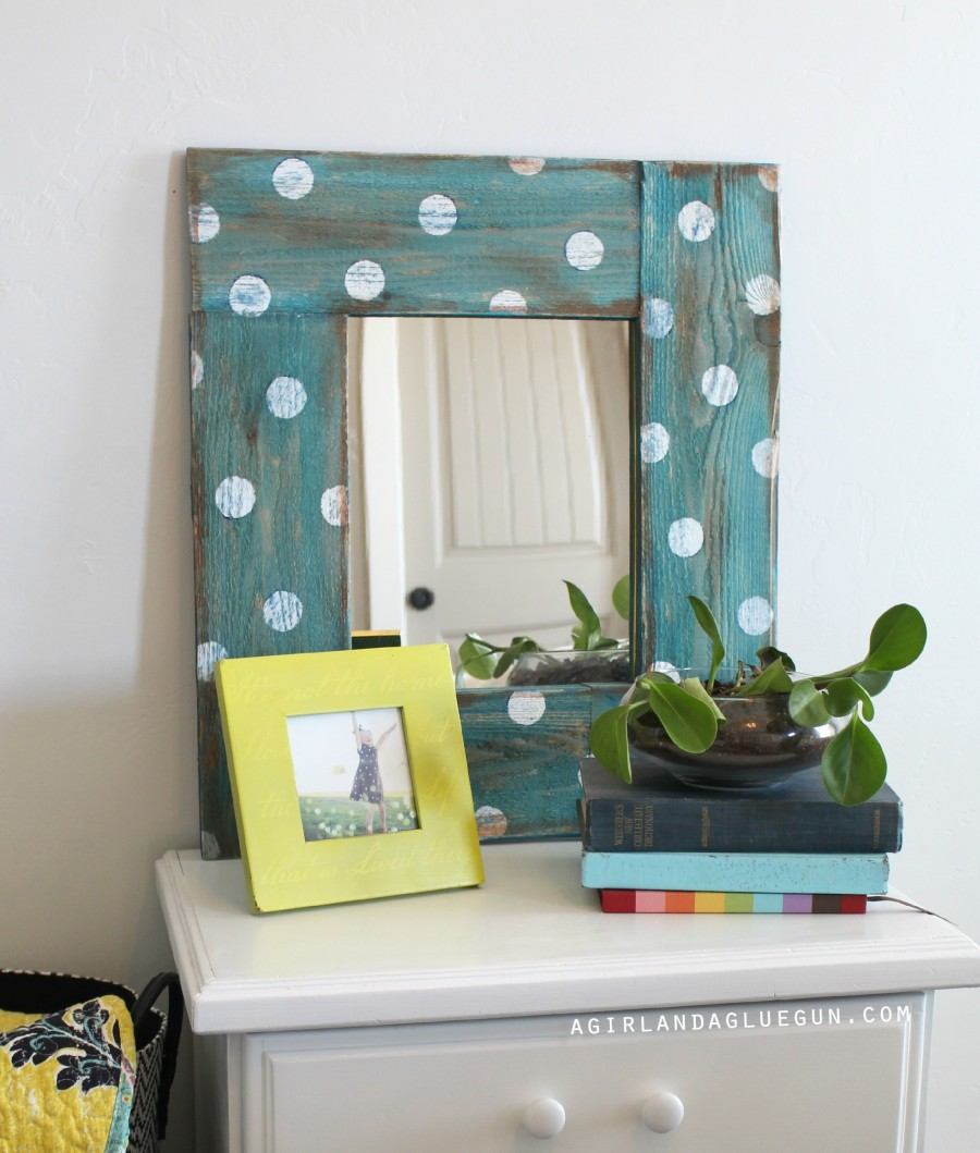 Mirror with Polka Dot frame