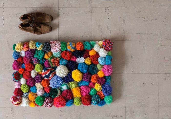 Pompom bath mat