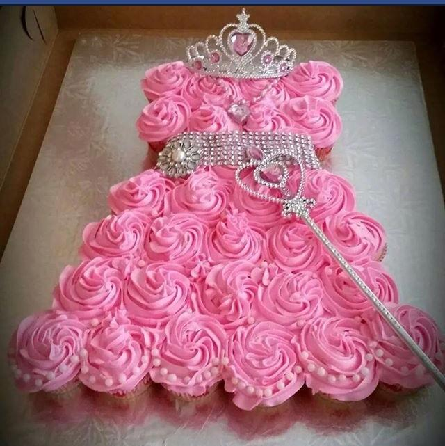 Princess dress styled cupcakes