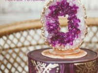 rock candy geode cake topper 200x150 DIY Wedding Cake Toppers for Your Special Day