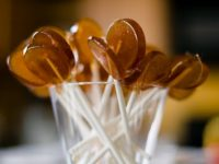shirley temple lollipops 200x150 Homemade Gourmet Lollipops Upgrade a Classic Childs Treat