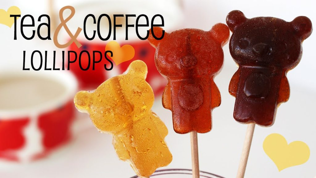 tea and coffee lollipops