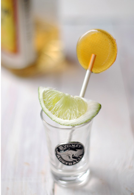 Tequila lollipops