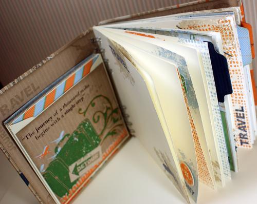 Travel scrapbook
