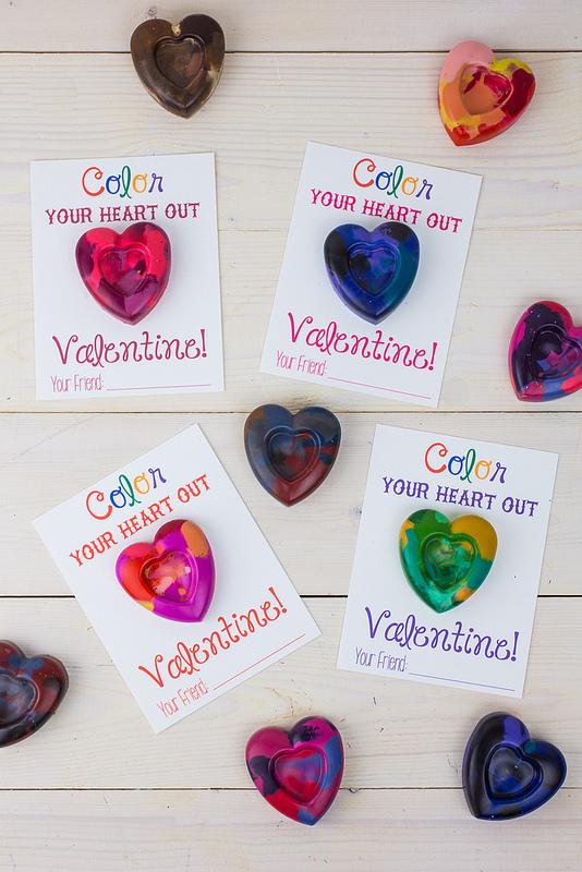 valentine crayon craft
