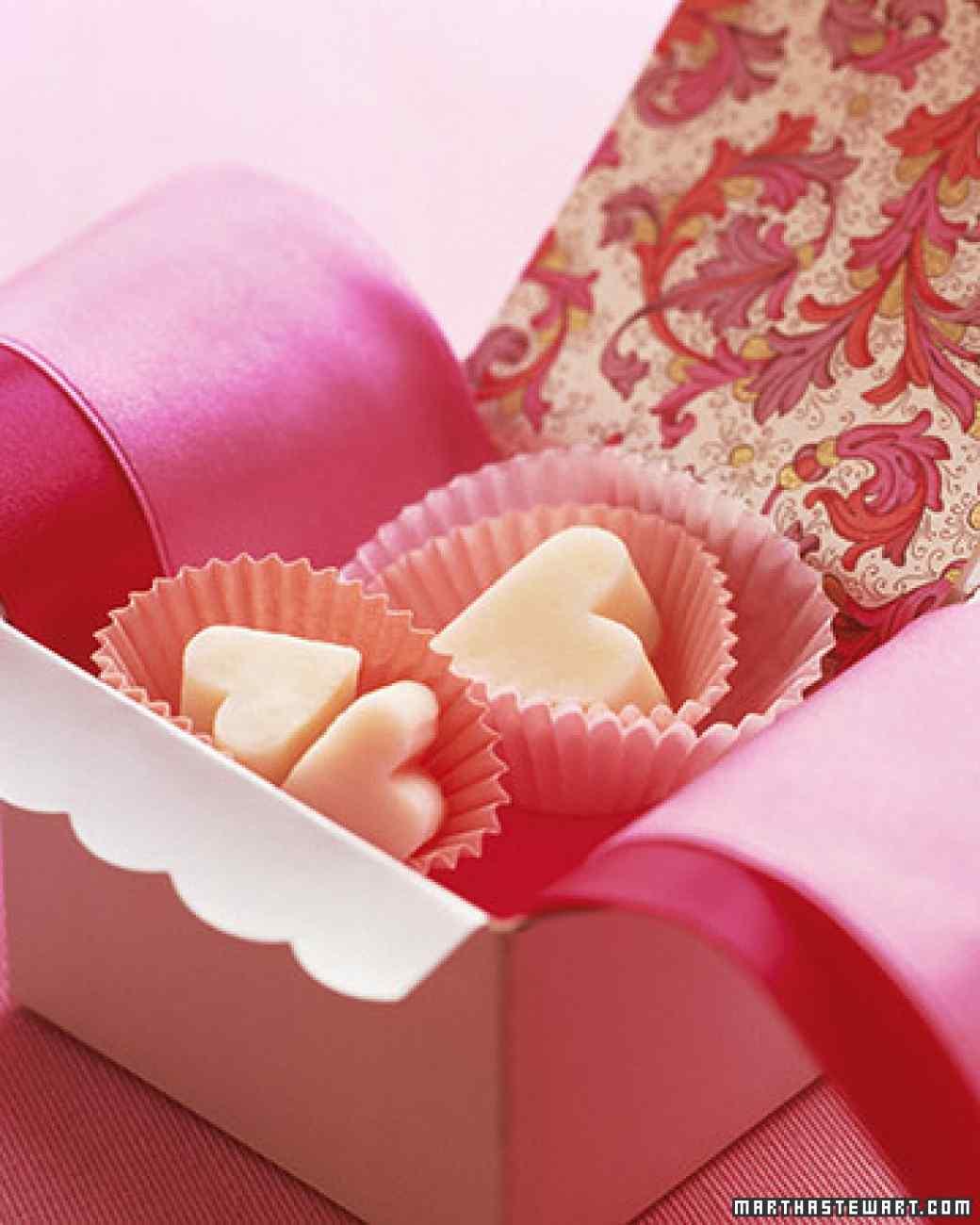 Valentine fudge