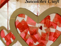 valentines sun catcher 200x150 Cute Valentines Day Crafts for Kids