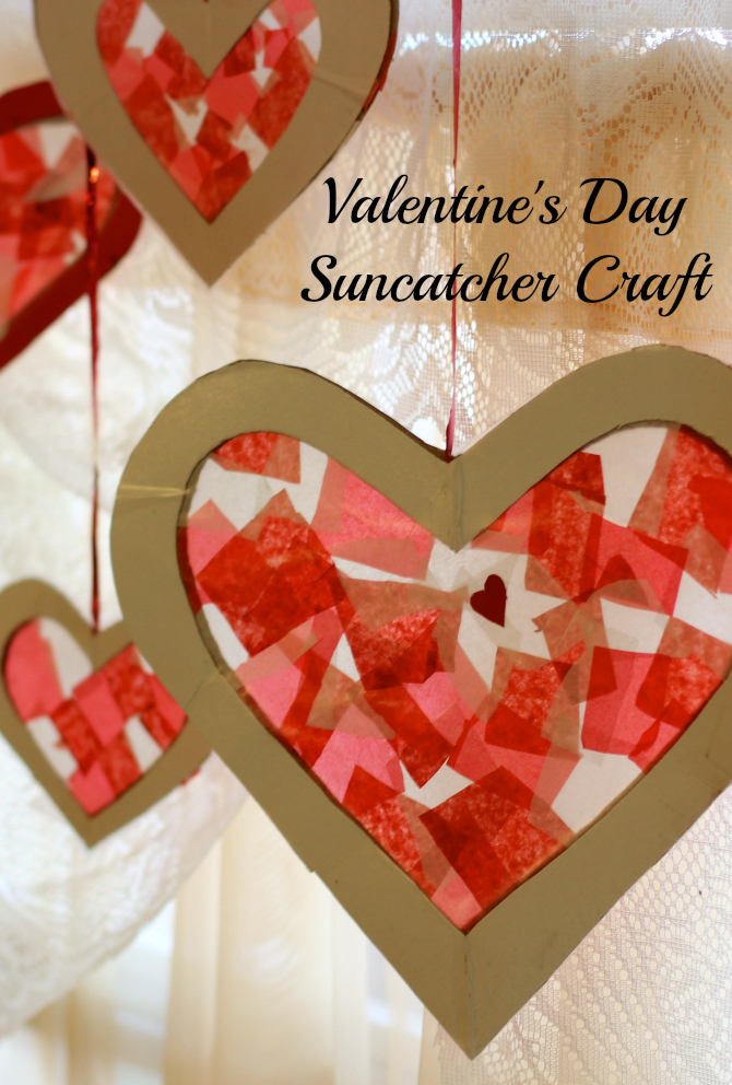 Valentine's sun catchers