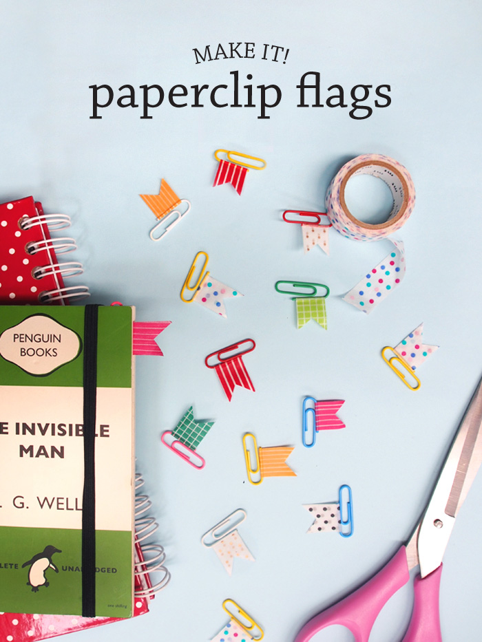 washi paper clip flags