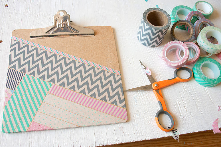 Washi tape clip board