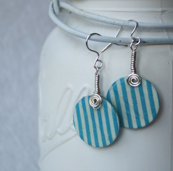 Washi-tape-earrings