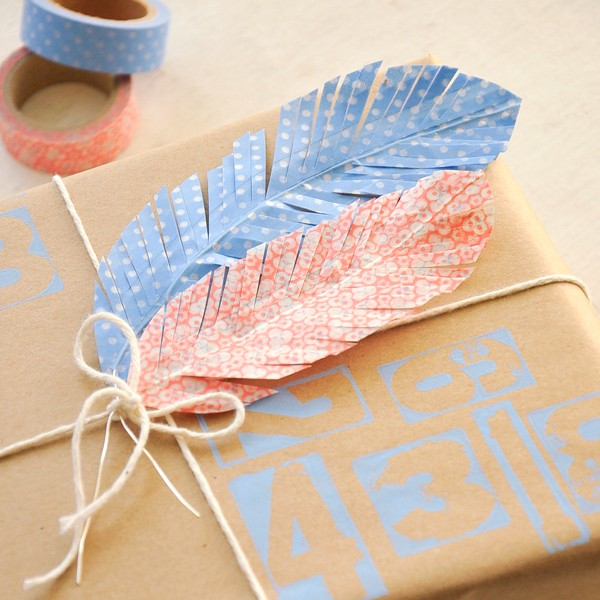 VIEW IN GALLERY Washi Tape Feathers