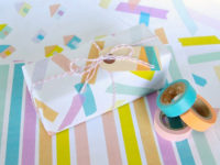washi tape gift wrap 200x150 14 Creative Ways to Use Washi Tape