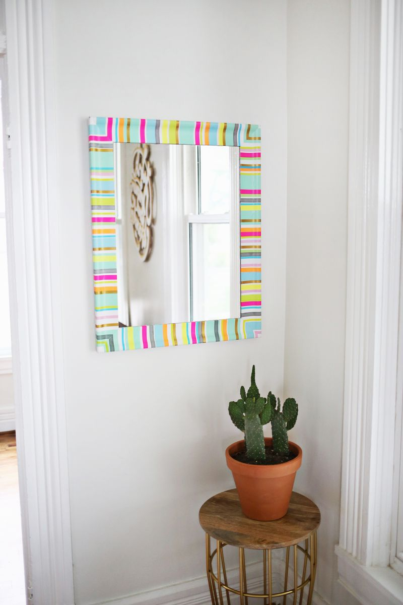 Washi tape mirror