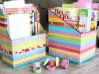 washi tape organizer 200x150 14 Creative Ways to Use Washi Tape