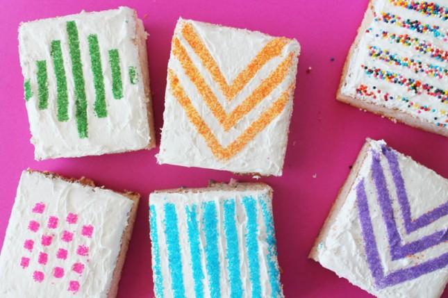 Wax paper sugar stencil cake