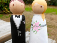 wedding peg people 200x150 DIY Wedding Cake Toppers for Your Special Day