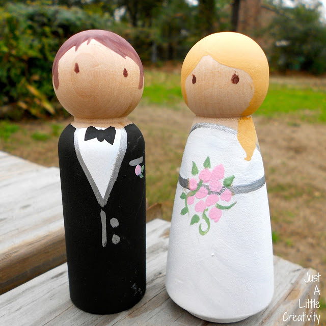 wedding peg people