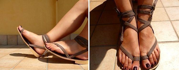 Ankle wrap flip flops