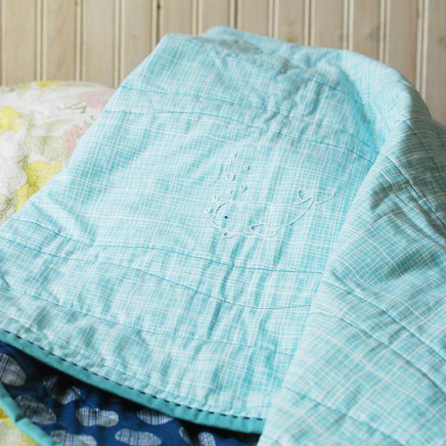 Beluga Embroidery Blanket