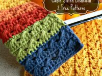 Cable Stitch Dishcloth Pattern 200x150 Free Crochet Dishcloth and Scrubbie Patterns