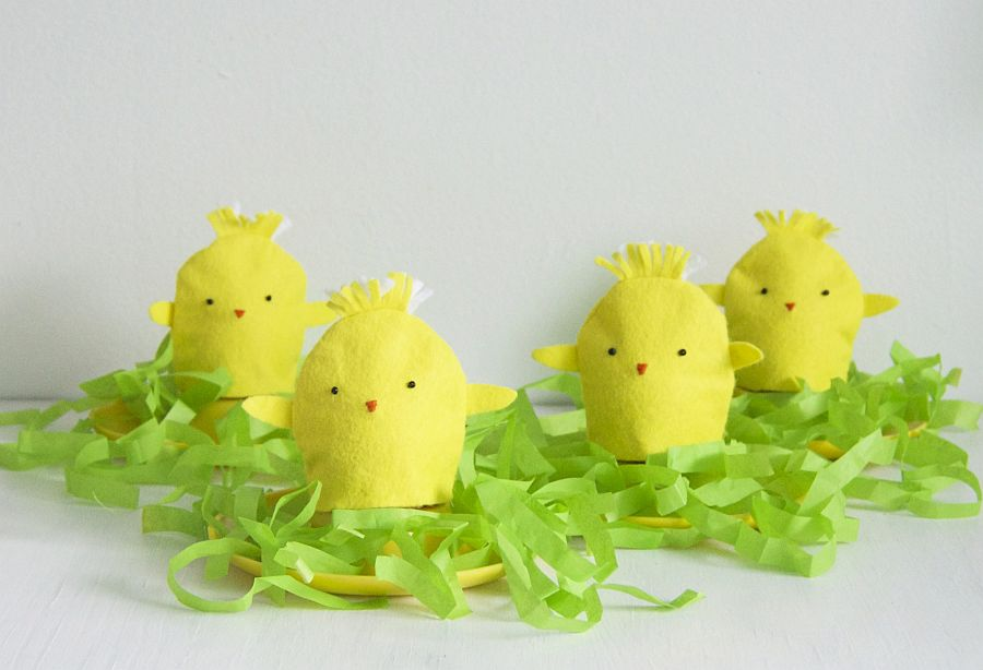 Colorful Chick Egg Cosies