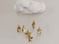 Contemporary Gold Star Mobile 200x150 8 Sun, Star, and Cloud Inspired Baby Mobiles