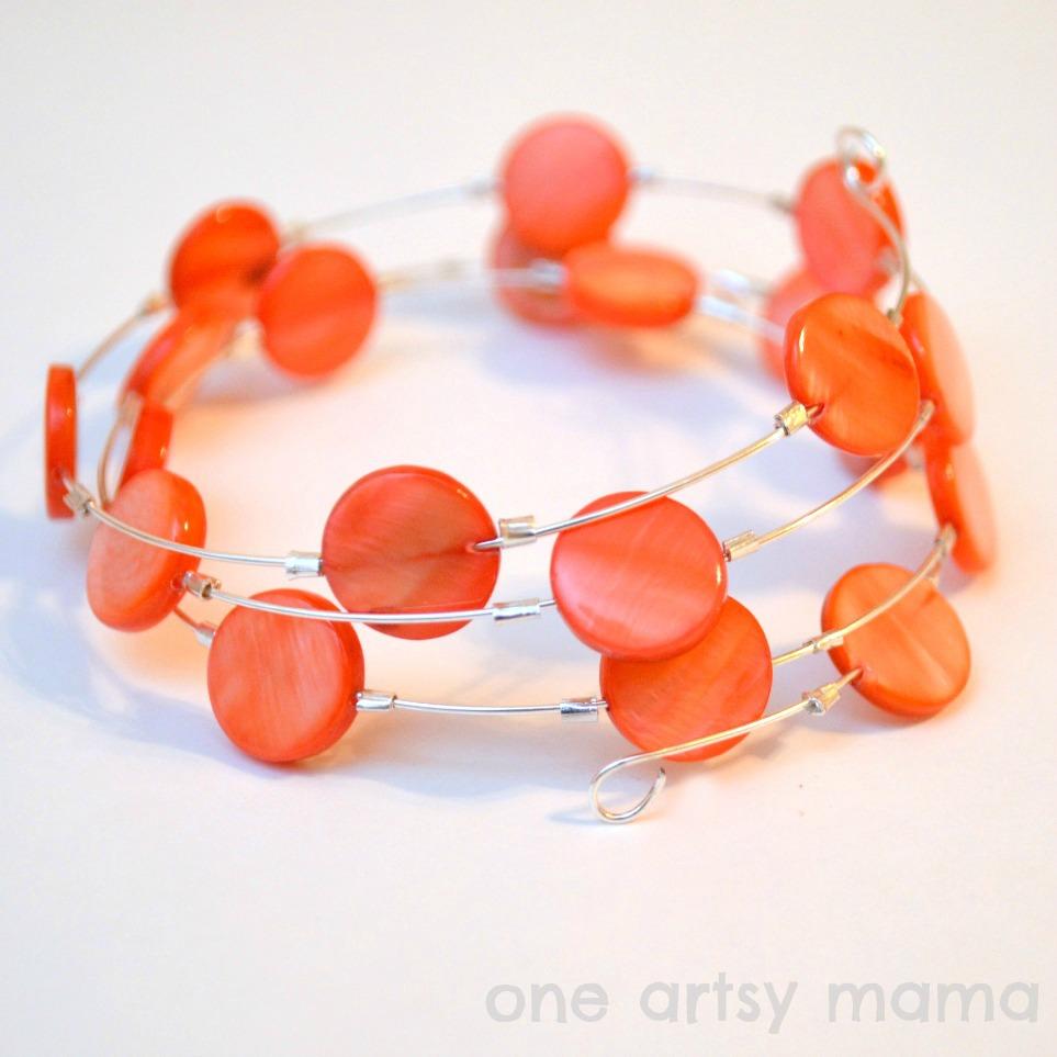 Coral Wire Bracelet