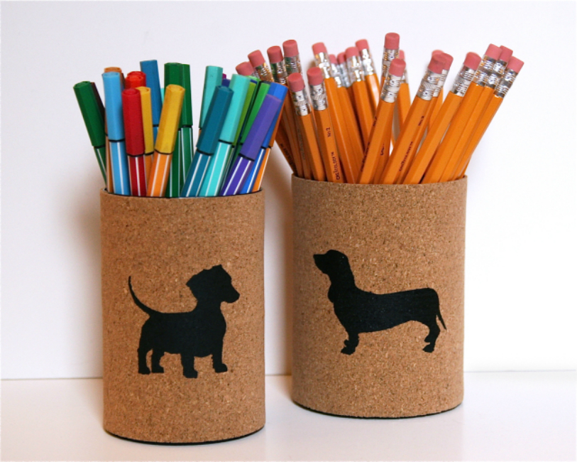 Cork Pencil Cups