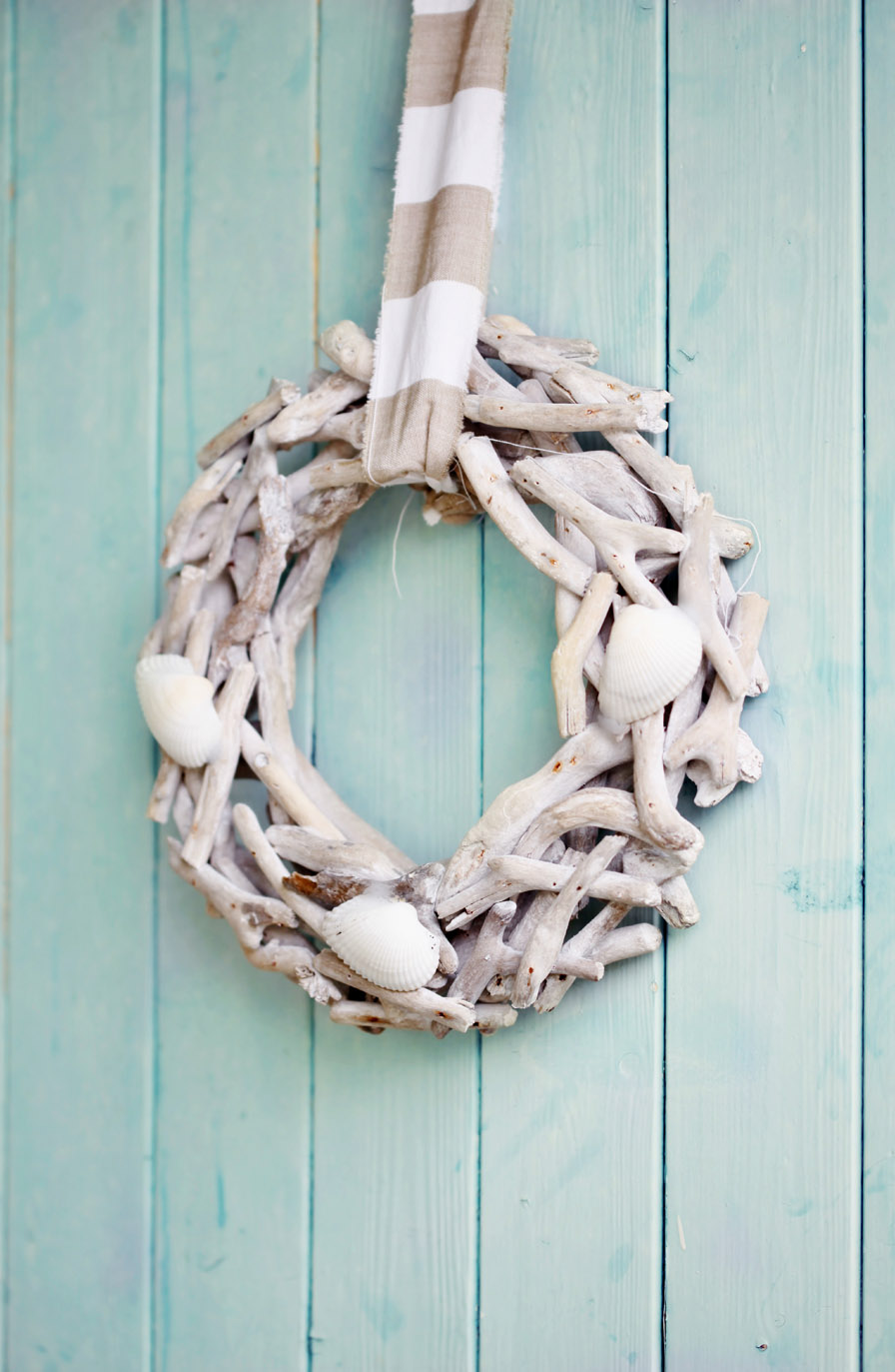 Cottege Seashell Wreath