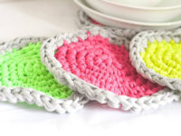 Crochet Neon Hot Pads 200x150 Lively Neon Creations for Your Home