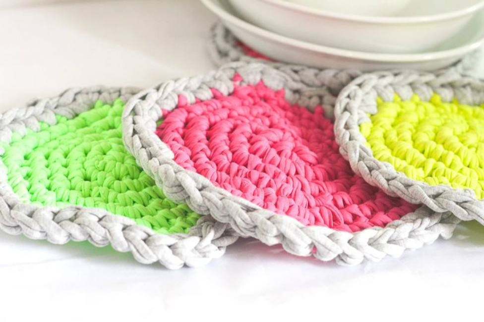 Crochet Neon Hot Pads