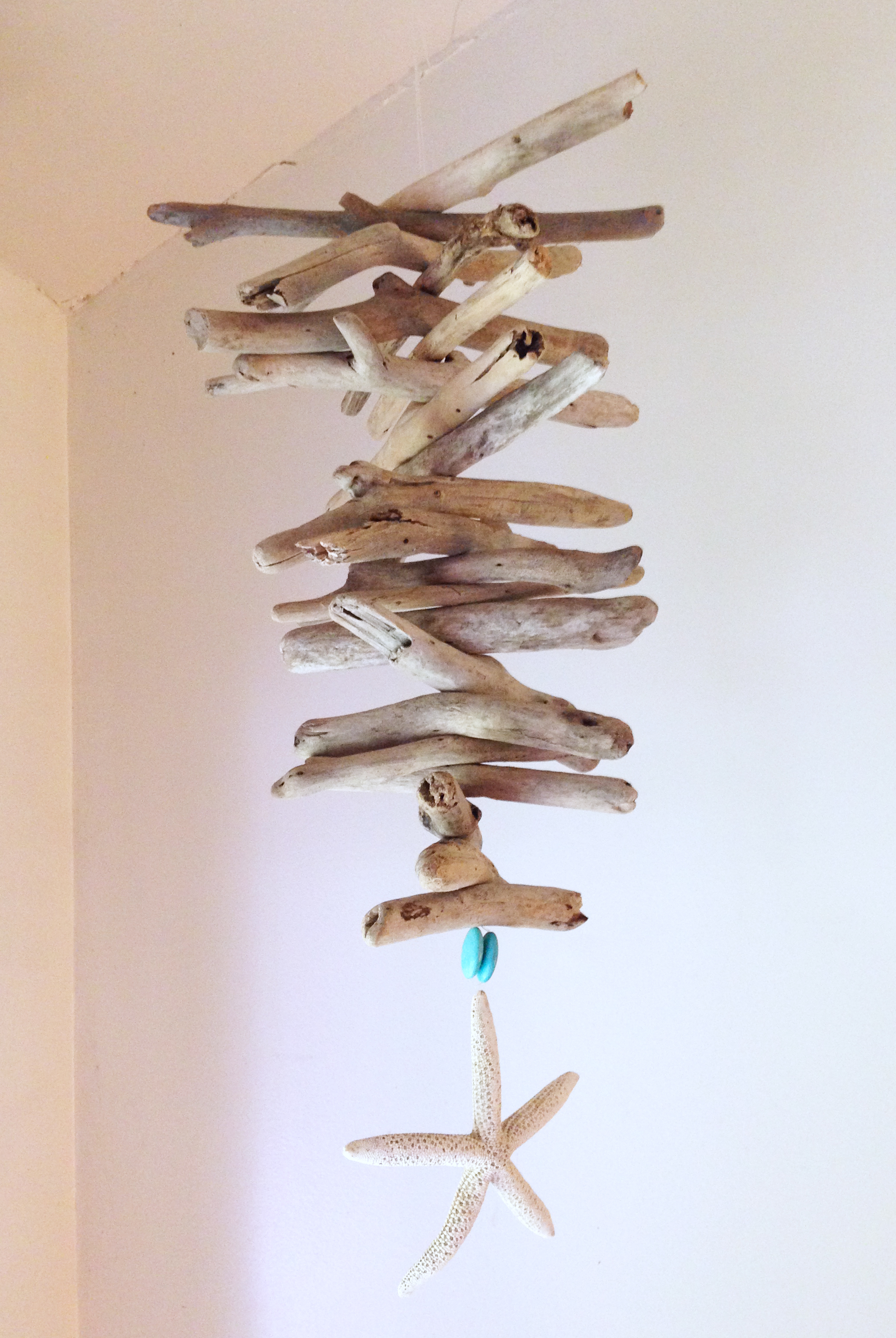 Driftwood and Starfish Mobile
