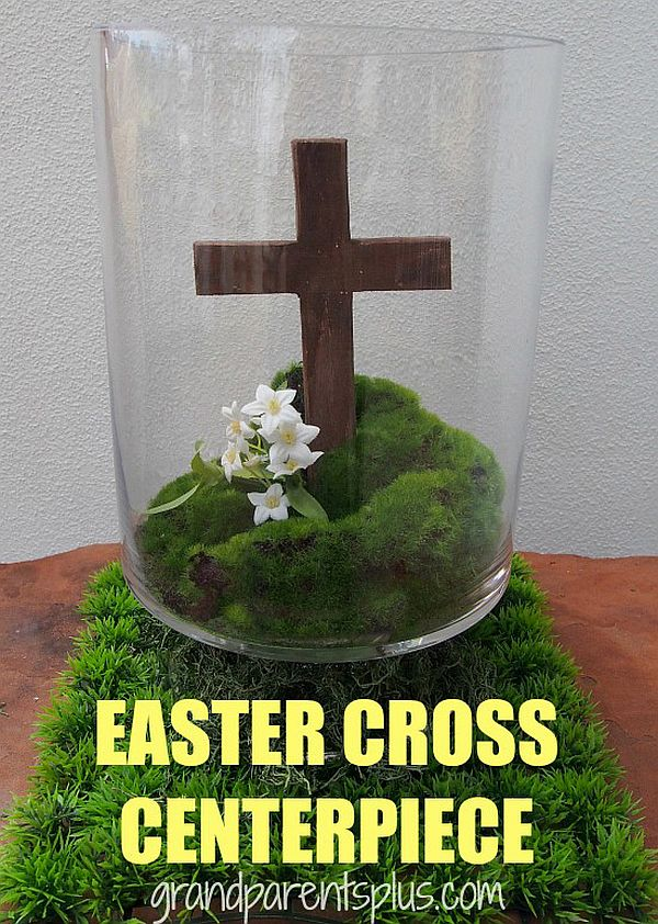 Easter Cross Centerpiece DIY