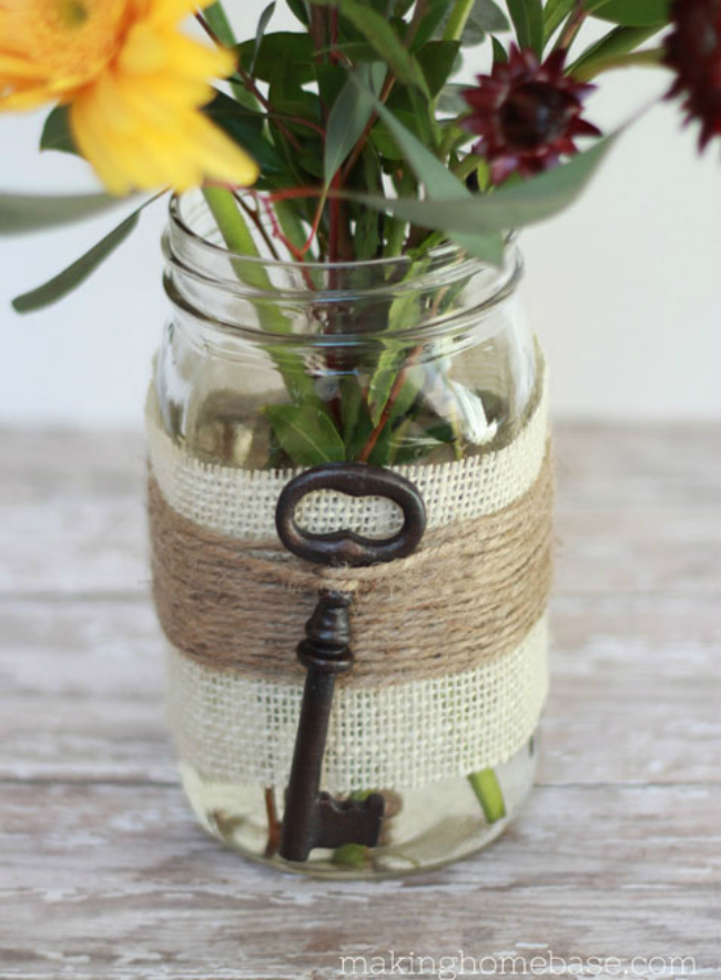 Embellished Mason Jar