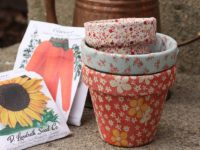 Fabric Flower Pots 200x150 Want To Decorate Your Flower Pots? Try These Ideas!