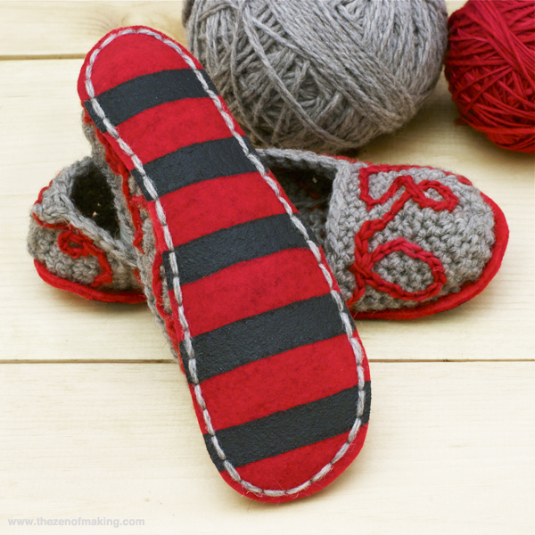 how to make fleece slippers