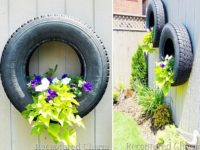 Floating Tire Planters 200x150 9 Ways To Upcycle Old Tires