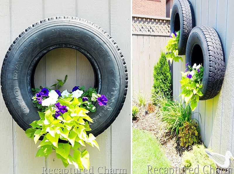 Floating Tire Planters