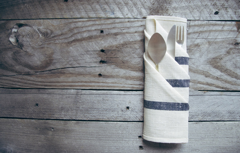 French pleated napkin