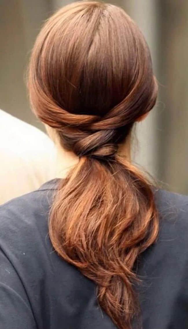 Gossip Girl ponytail style