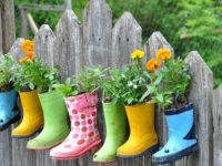 Hanging Garden Boots 200x150 9 Ways to Use Old Shoes as Planters