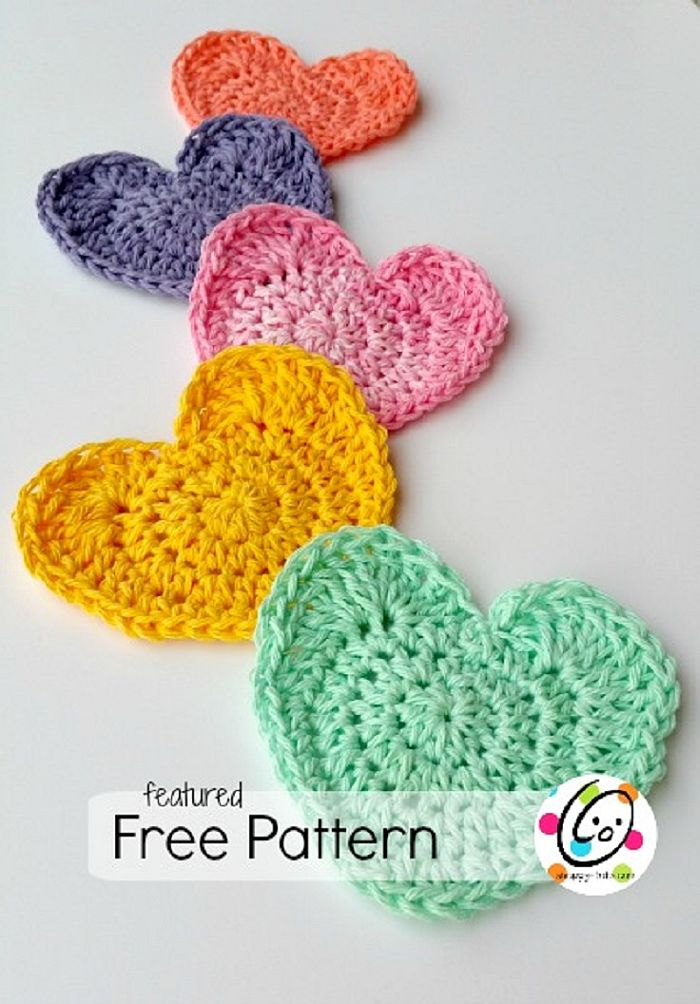 Heart shaped scrubbies