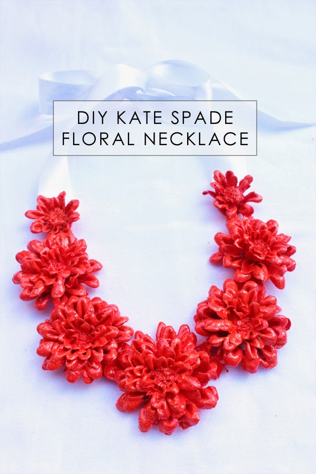Kate Spade inspired floral necklace