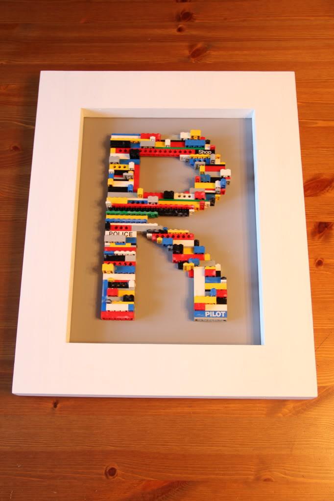Lego Letter Art